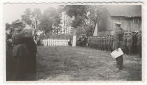Lietuvos Skautų delegacija ir Lietuvos Šaulių sąjungos atstovai M. Jankaus sodyboje,  1938 m.
